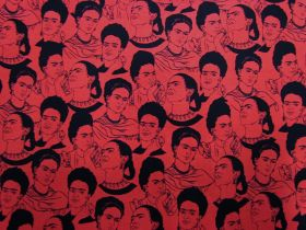 Great value Frida Kahlo- 19616-3 Red available to order online New Zealand