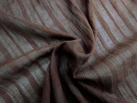 Great value Fine Liner Embroidered Voile- Chocolate available to order online New Zealand