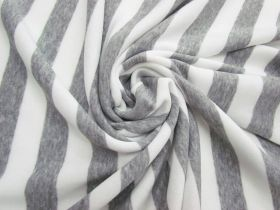 Great value Striped Fleece- Light Grey #5065 available to order online New Zealand