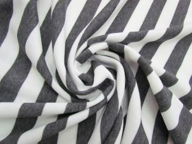 Great value Striped Fleece- Dark Grey #5066 available to order online New Zealand