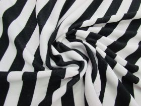 Great value Striped Fleece- Black / White #5075 available to order online New Zealand