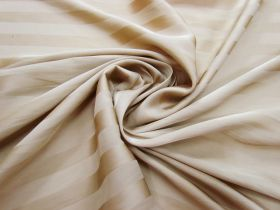 Great value Subtle Stripe Satin Chiffon- Latte #3134 available to order online New Zealand