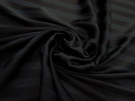 Great value Subtle Stripe Satin Chiffon- Black #3136 available to order online New Zealand