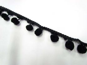Great value Large Pom Poms- Black available to order online New Zealand