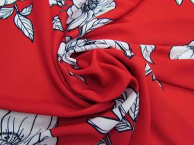 Great value Blossom Crepe - Red #5111 available to order online New Zealand