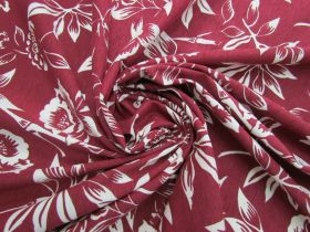 Great value Natural Beauty Cotton Jersey- Maroon #5117 available to order online New Zealand
