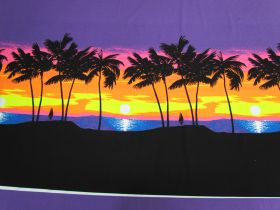 Great value 88cm Panel- Fluro Sunset Cotton Jersey #5125 available to order online New Zealand