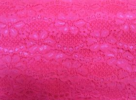 Great value 60mm Stretch Lace Trim- Sizzling Pink #352 available to order online New Zealand