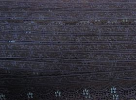 Great value 40mm Stretch Lace Trim- Midnight Dream #356 available to order online New Zealand