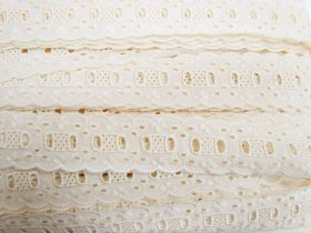 Great value 35mm Broderie Anglaise Trim- Rich Cream #358 available to order online New Zealand
