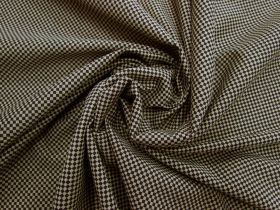 Great value Checkered Cotton Blend Jersey- Beige / Black #5132 available to order online New Zealand