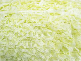 Great value 27mm Ariana Lace Frill Trim- Yellow #372 available to order online New Zealand