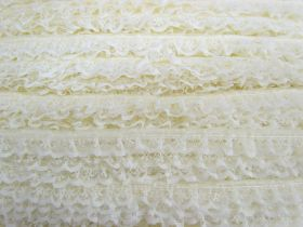 Great value 15mm Frill Lace Trim- Butter Cream #378 available to order online New Zealand
