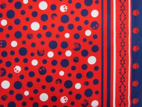 Great value Skull & Bones Heavyweight Cotton- Red/Navy #21 available to order online New Zealand