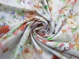 Great value 274cm Wide Quilt Backing Cotton- Dazzling Bouquet- Pastel #5170 available to order online New Zealand