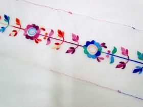 Great value San Francisco Floral Trim on Organza available to order online New Zealand