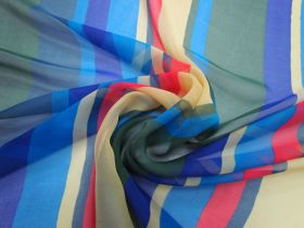 Great value Exuberant Stripe Silk Chiffon #3396 available to order online New Zealand