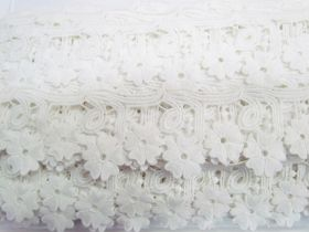 Great value Daisy Joy Lace Trim- Cream White #3434 available to order online New Zealand