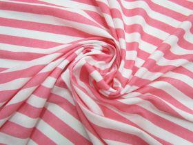 Great value Soft Interlock Jersey- Pink Lemonade Stripe #5190 available to order online New Zealand