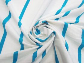 Great value Stripe Cotton Blend Knit- Fresh Blue #5198 available to order online New Zealand