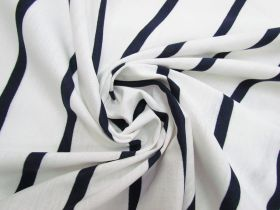 Great value Stripe Cotton Blend Knit- Navy On White #5200 available to order online New Zealand