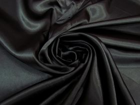 Great value Charmeuse Satin- Panther Black #5228 available to order online New Zealand