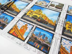Great value Melbourne Sights Cotton- 61cm Panel #8086-K available to order online New Zealand
