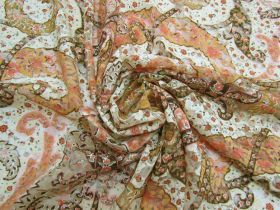 Great value Harvest Gold Paisley Stretch Lace #5273 available to order online New Zealand