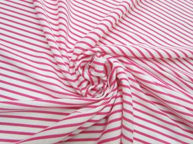 Great value Stripe Interlock Jersey- Lively Pink #5295 available to order online New Zealand