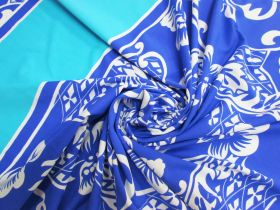 Great value 75cm Spandex Panel- Surf Blue Floral #5332 available to order online New Zealand