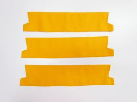 Great value Cotton Drill Pre-made Collar Bundle- 38cm Yellow- 3 for $5 available to order online New Zealand