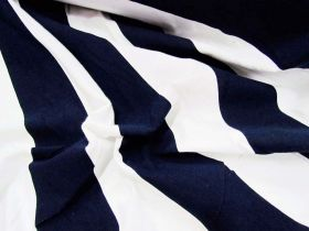 Great value 50x50 Striped Cotton Spandex- Navy available to order online New Zealand