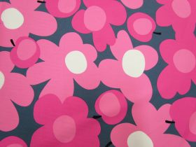 Great value Tutti Frutti Flower Cotton- Pink/Grey #5361 available to order online New Zealand