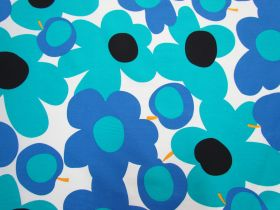 Great value Tutti Frutti Flower Cotton- Blue/White #5362 available to order online New Zealand