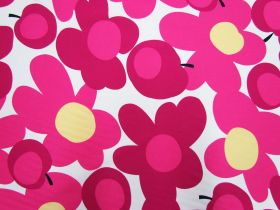 Great value Tutti Frutti Flower Cotton- Pink/White #5363 available to order online New Zealand