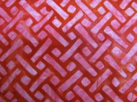 Great value Batiks Cotton- Elementals- Geo Red available to order online New Zealand