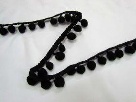 Great value Designer Pom Poms- Black available to order online New Zealand