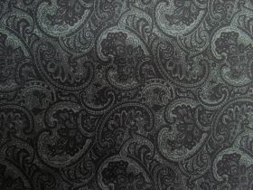 Great value Princely Paisley Cotton- Black PW1287 available to order online New Zealand