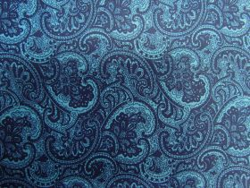 Great value Princely Paisley Cotton- Blue PW1286 available to order online New Zealand