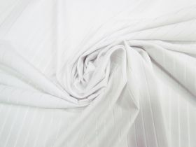 Great value Sheer Stripe Spandex- White #4060 available to order online New Zealand