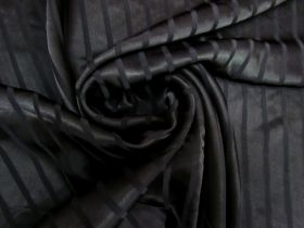 Great value Satin Stripe Viscose- Black #5491 available to order online New Zealand