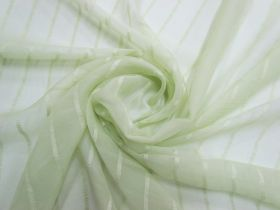 Great value Delicate Stripe Silk Georgette- Soothing Green #5497 available to order online New Zealand