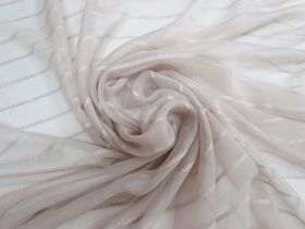 Great value Delicate Stripe Silk Georgette- Soft Beige #5498 available to order online New Zealand