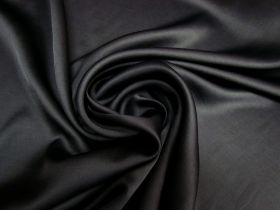 Great value Delustered Crepe Back Satin- Black #5510 available to order online New Zealand