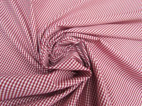 Great value Gingham Check Shirting- Barn Red #5517 available to order online New Zealand