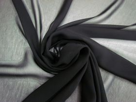 Great value Super Fine Viscose Georgette- Nightfall Black #4153 available to order online New Zealand
