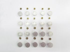 Great value 17mm Stud Jeans Button Pack- Branded Silver RW329 - 20 for $6 available to order online New Zealand