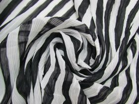 Great value Metropolis Stripe Pleated Chiffon#1838 available to order online New Zealand