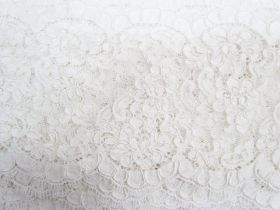 Great value 13cm Corded Chantilly Lace- Graceful White #542 available to order online New Zealand