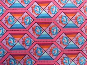 Great value Anna Maria Horner Cotton- Bright Eyes- Facets- Coral available to order online New Zealand